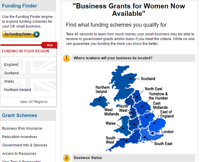 UK Business grants for women