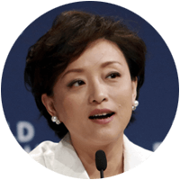 Yang Lan is a successful business woman in China