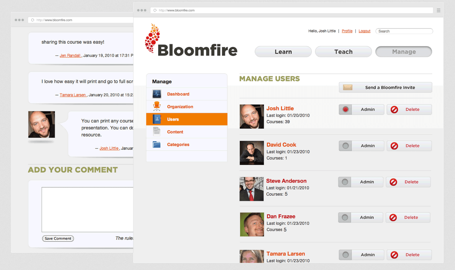 Store, search and share information easily with Bloomfire.