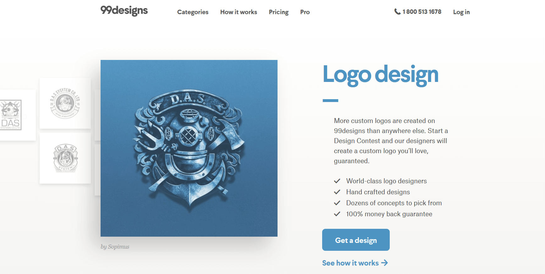 99 designs helps you reach creative designers to create the best logo for you.