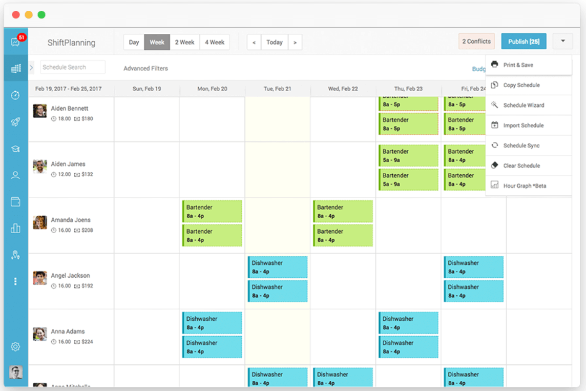 Automating scheduling will make your employees much more satisfied.