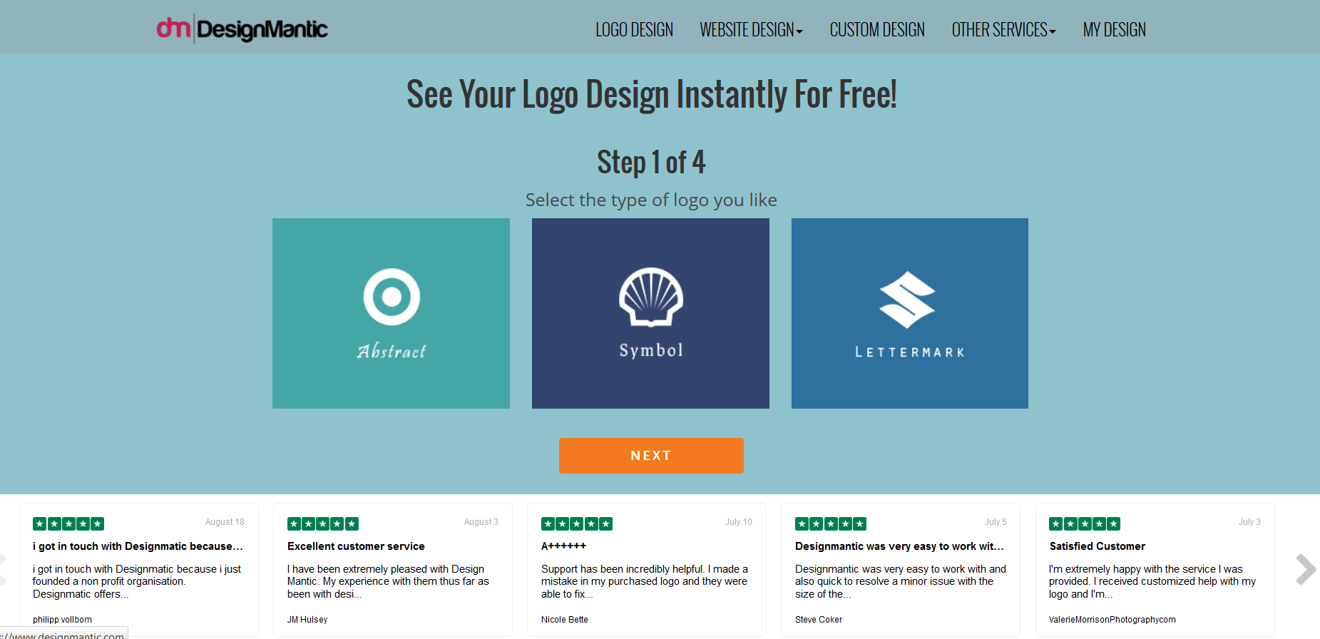 Designmantic a logo creation tool for your business.