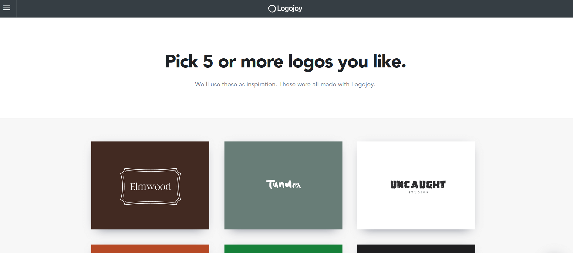 LogoJoy is a tool that can be used to create your business logo.