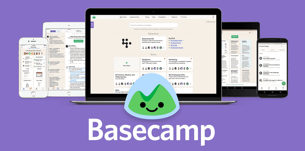 Basecamp is an essential online tool that helps manage teams.