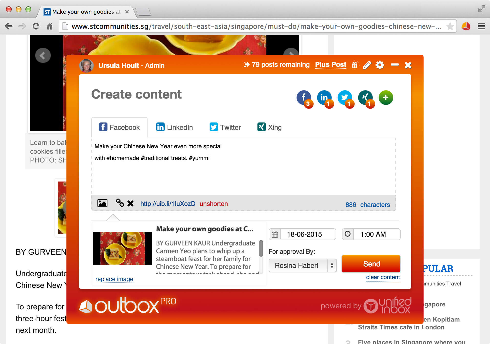 Outbox Pro is one of a few essential online tools used to social media automation.