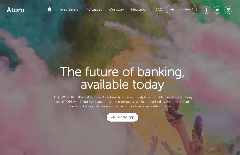 Digital-Banks-Atom-Homepage