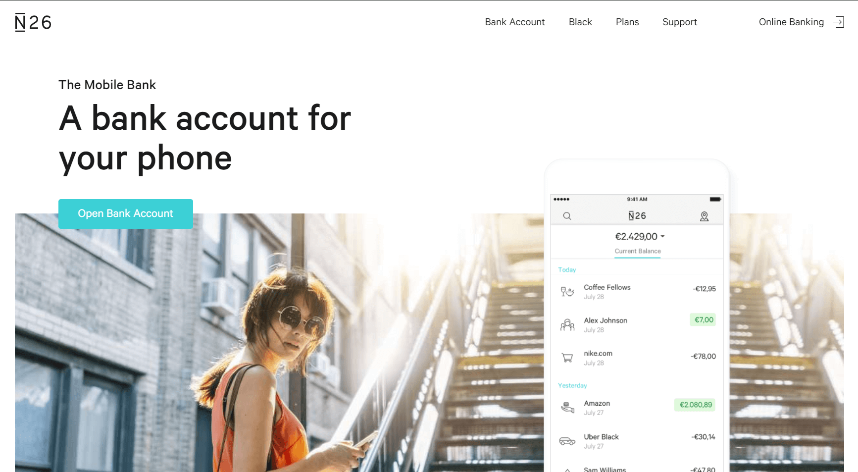Digital-Banks-N26-Homepage