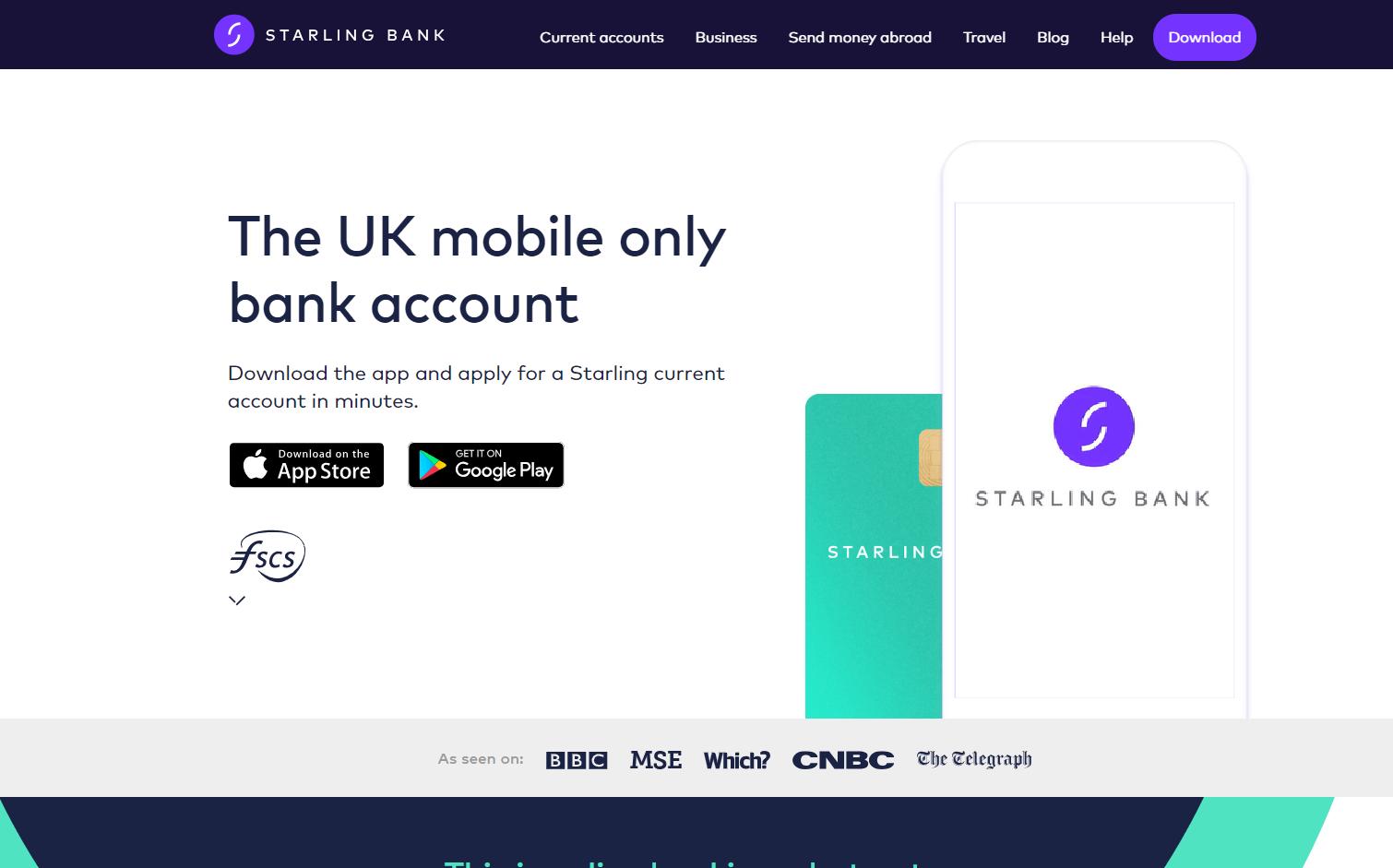Digital-Banks-Starling-Bank-Homepage