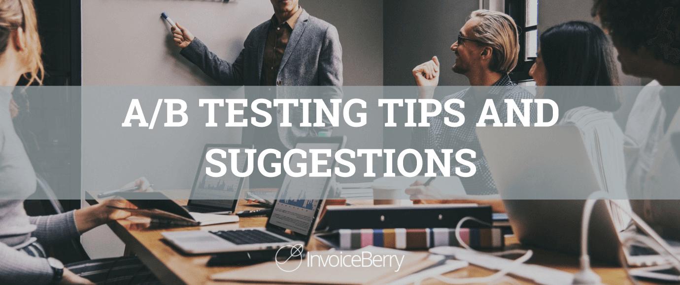 AB testing tips for entrepreneurs.