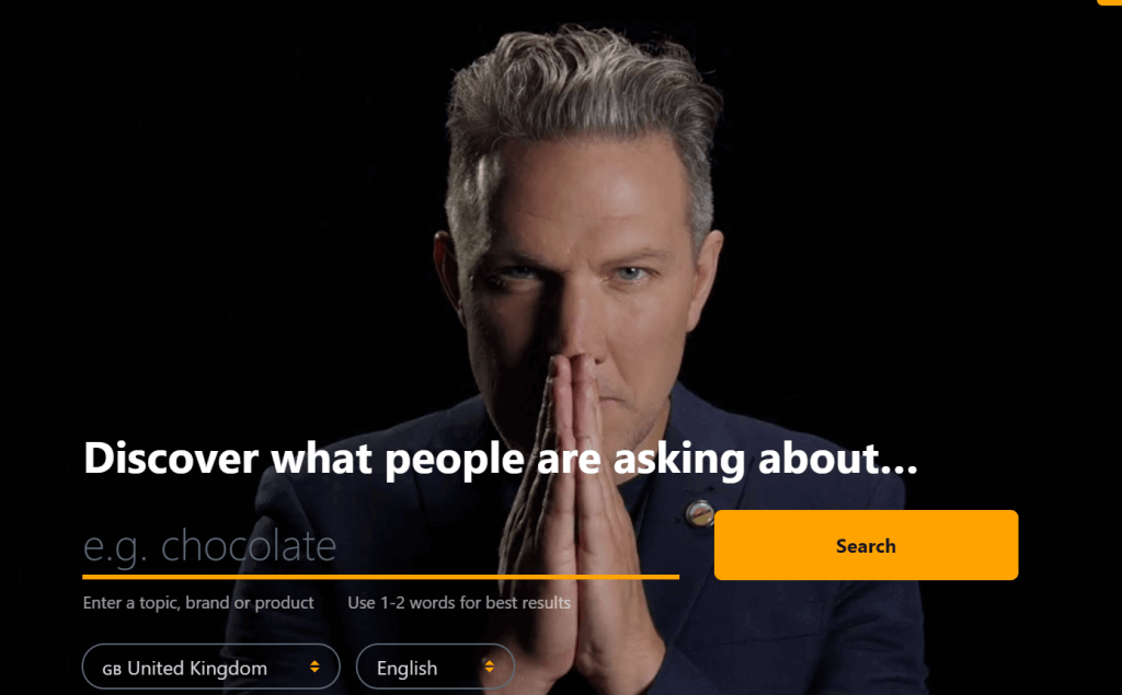 answer the public homepage