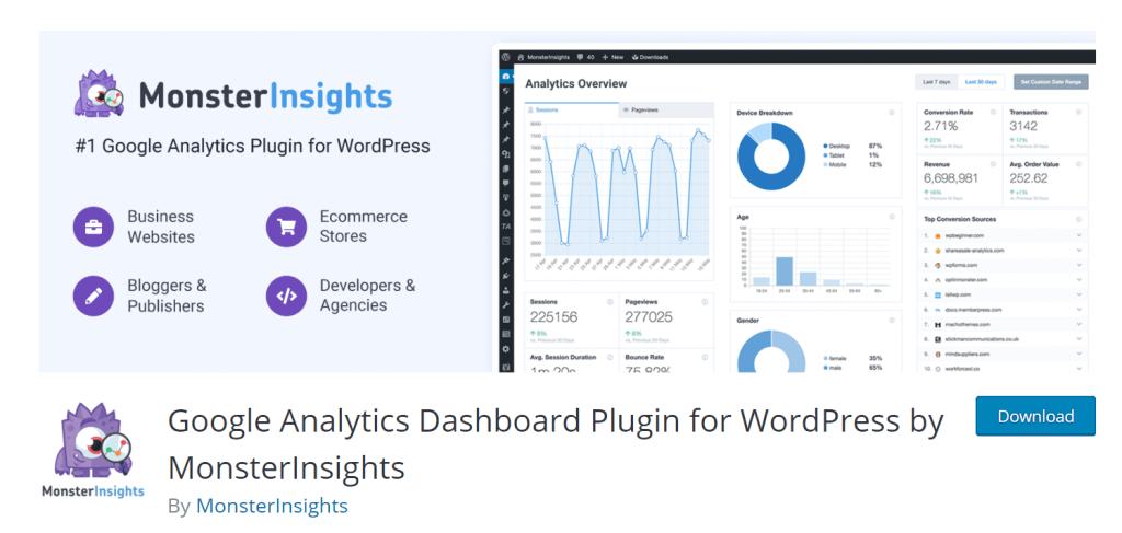 google analytics dashboard for blogs