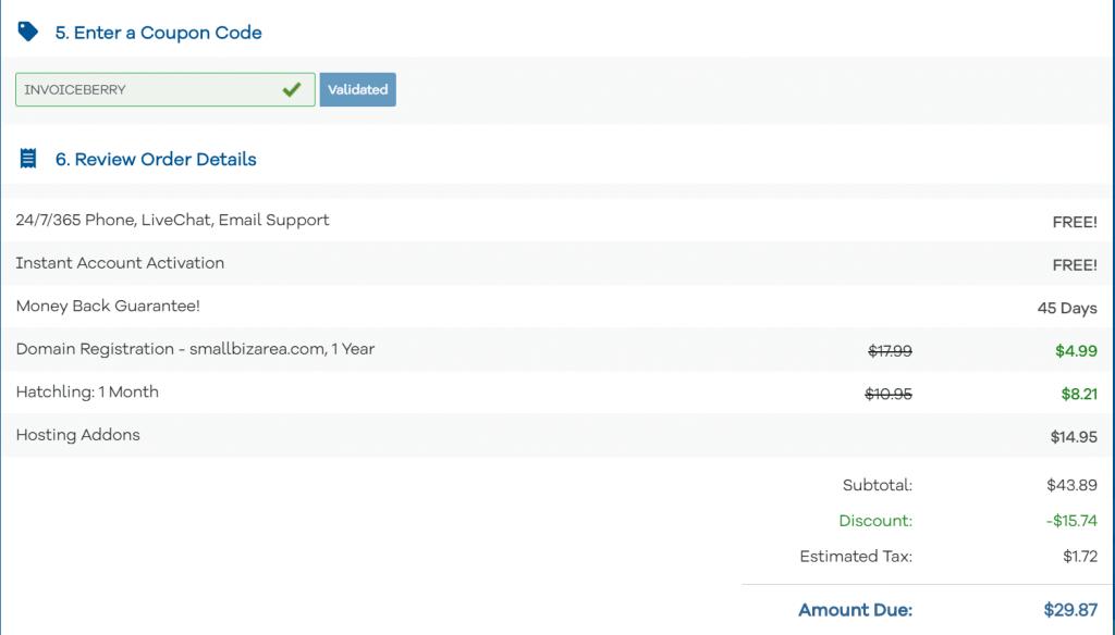 hostgator blog order details price