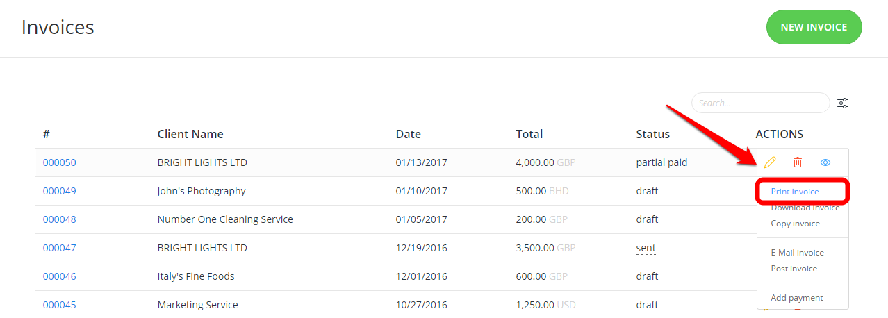 how can i print an invoice invoices quotes invoiceberry