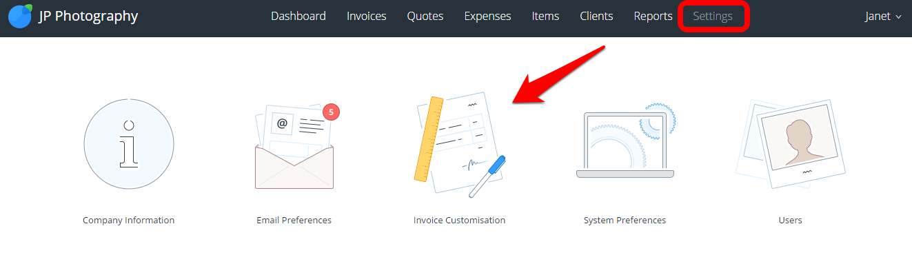how to get invoice from my company