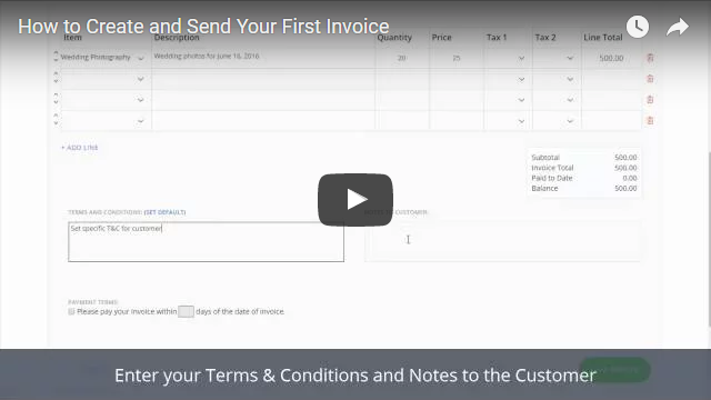 How Can I Create And Send My First Invoice Video Tutorials - Create and send invoices