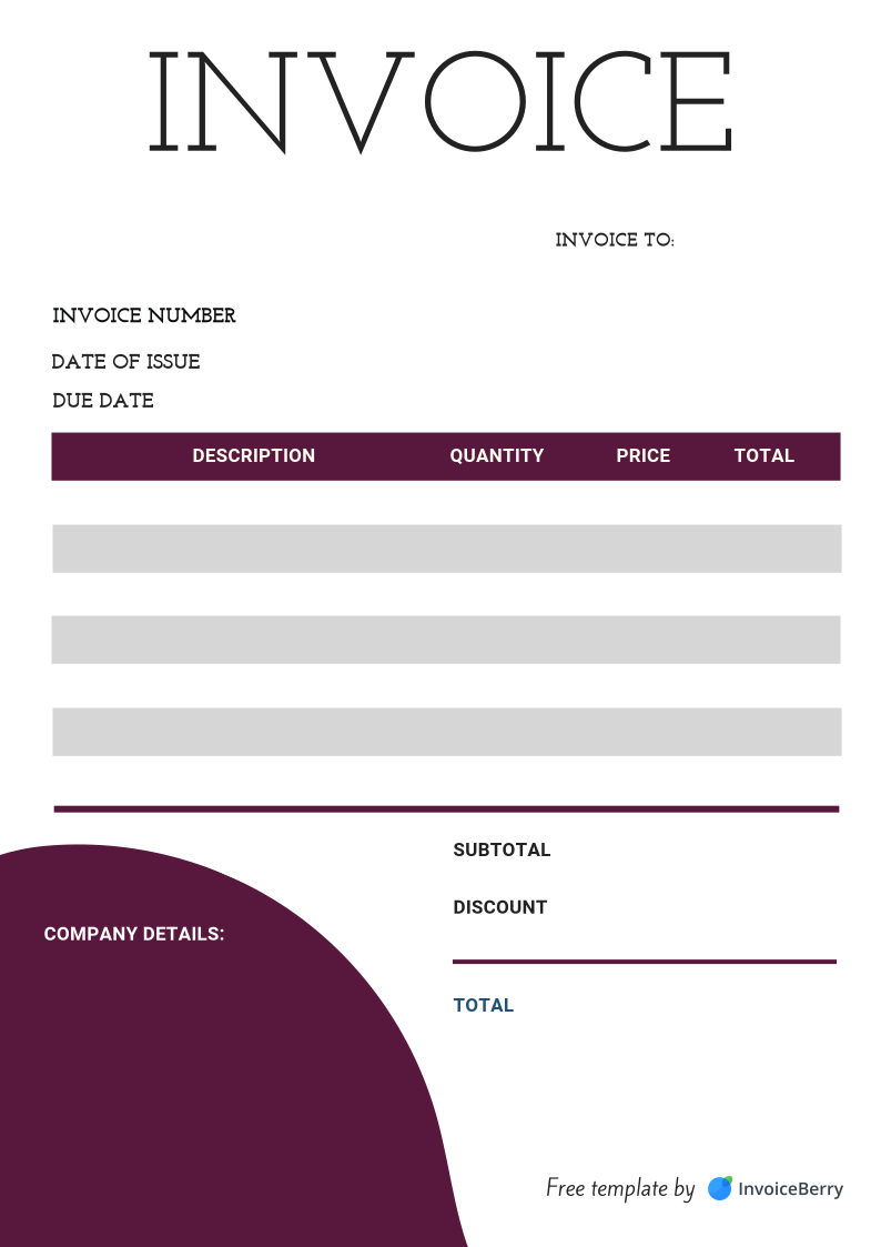 Free Invoice Templates Download All Formats And Industries Invoiceberry