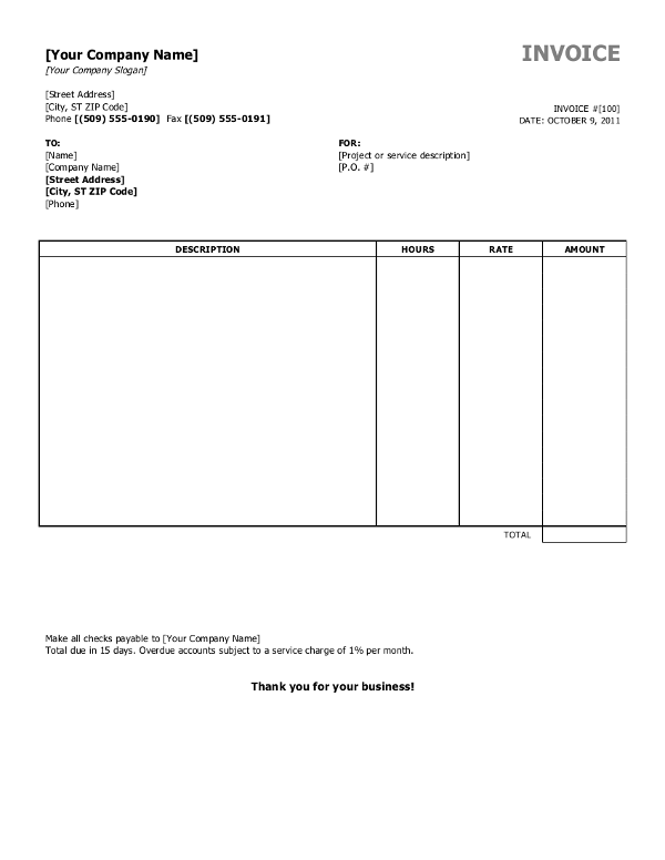 Free Open Office Invoice Template Sample 2 Download Invoiceberry