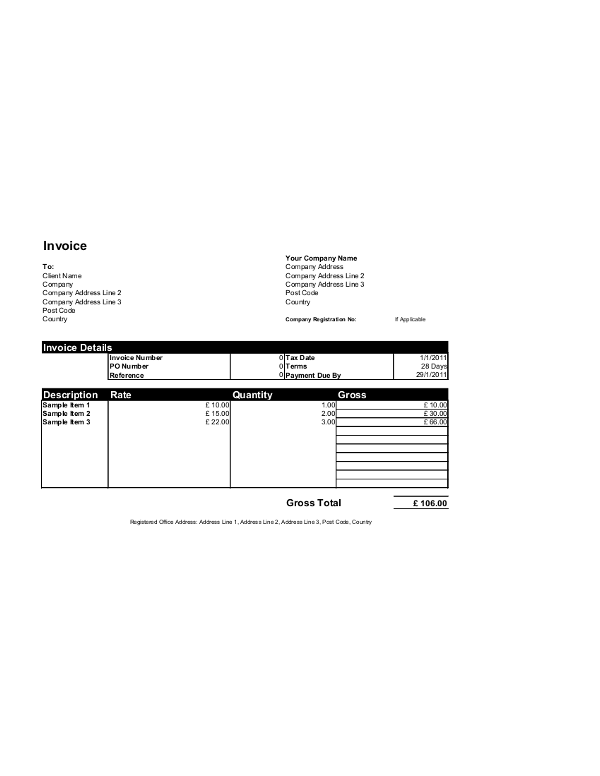Free Invoice Templates For Word Excel Open Office InvoiceBerry - Open office invoice template free for service business